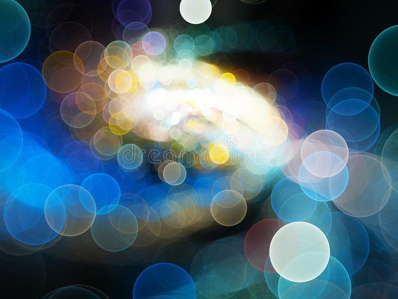 Colorful glowing bokeh abstract background royalty free illustration