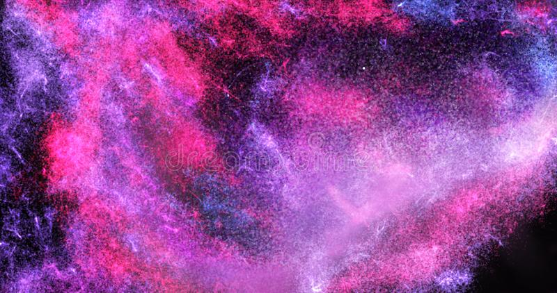 Colorful glowing galaxy and star painting royalty free illustration