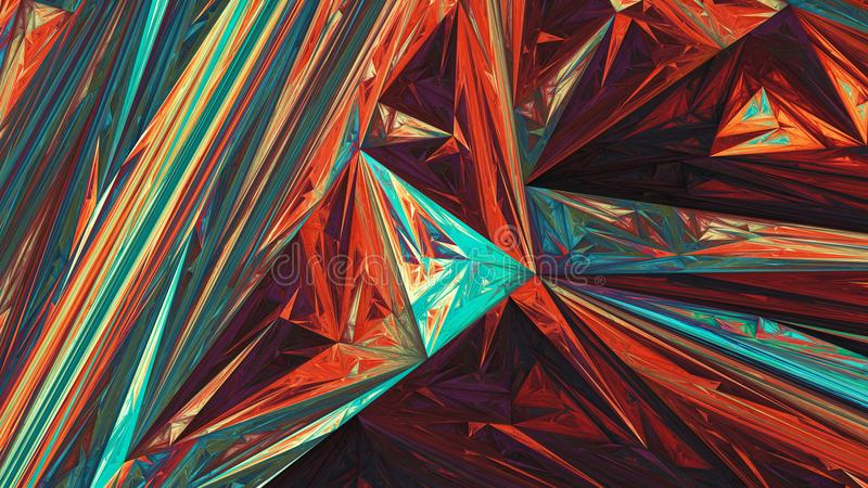 Colorful glowing triangles abstract background stock illustration