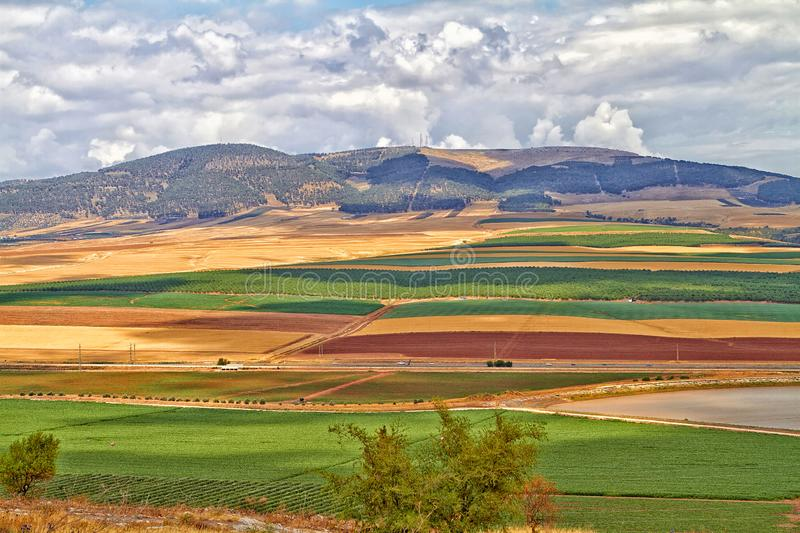 Colorful Golan Heights stock photos