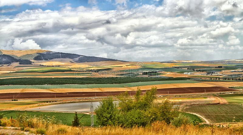 Colorful Golan Heights stock photography