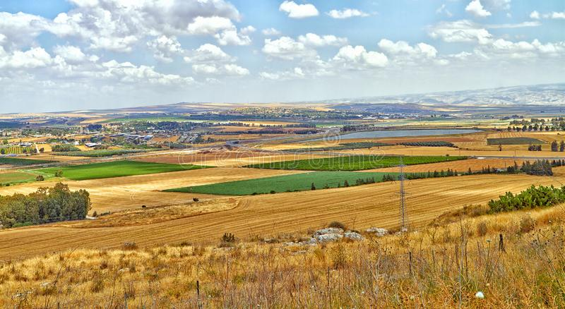 Colorful Golan Heights stock images