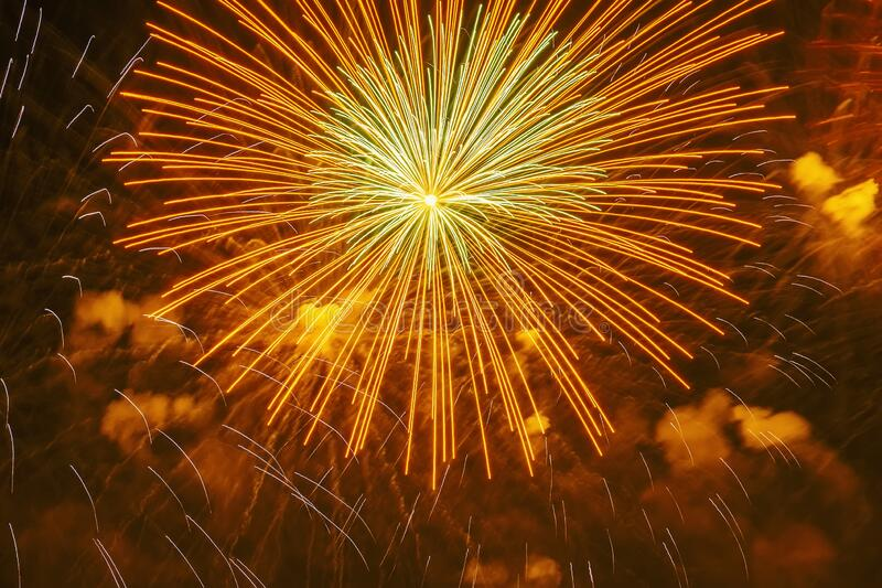 And flying sparks fireworks