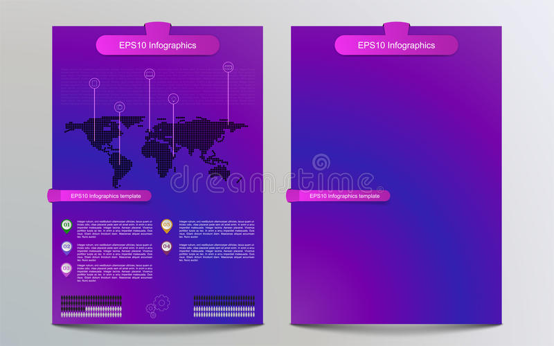 Colorful Gradient Brochure Template With Infographics Infograph
