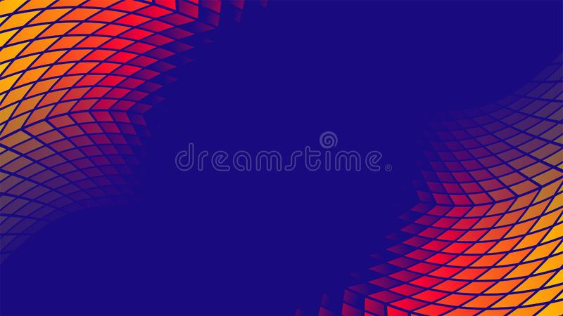 Colorful gradient geometric pattern vector background royalty free illustration