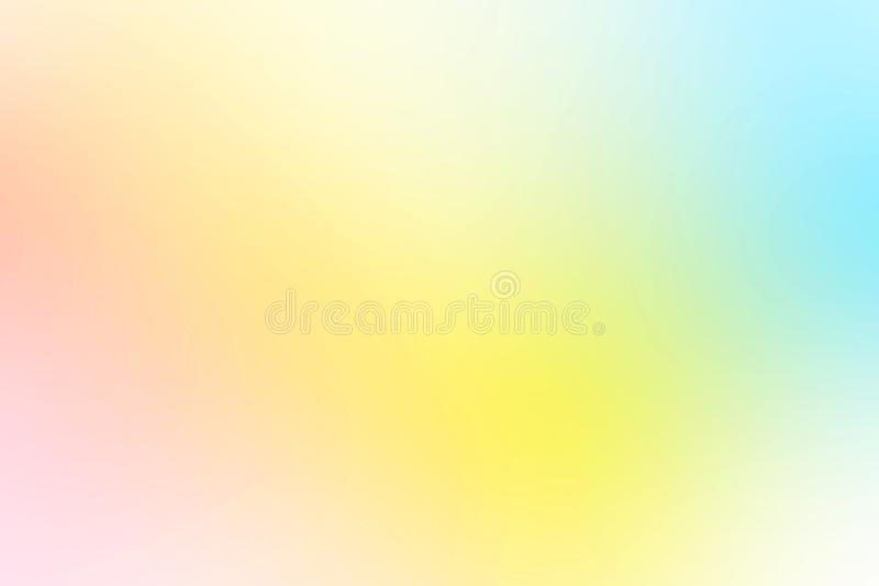 Colorful gradient mesh background in bright rainbow colors. Abstract smooth blurred texture royalty free stock images