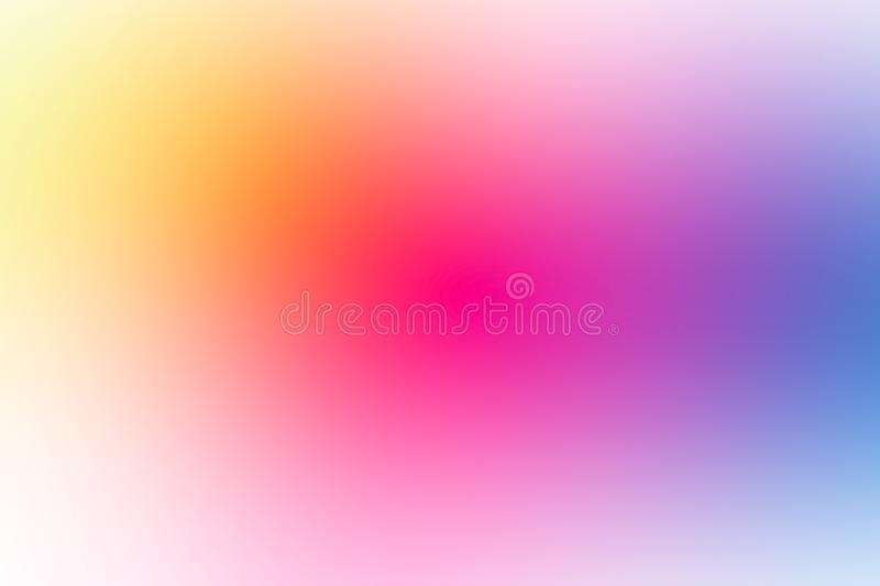 Colorful gradient mesh background in bright rainbow colors. Abstract smooth blurred texture stock photos