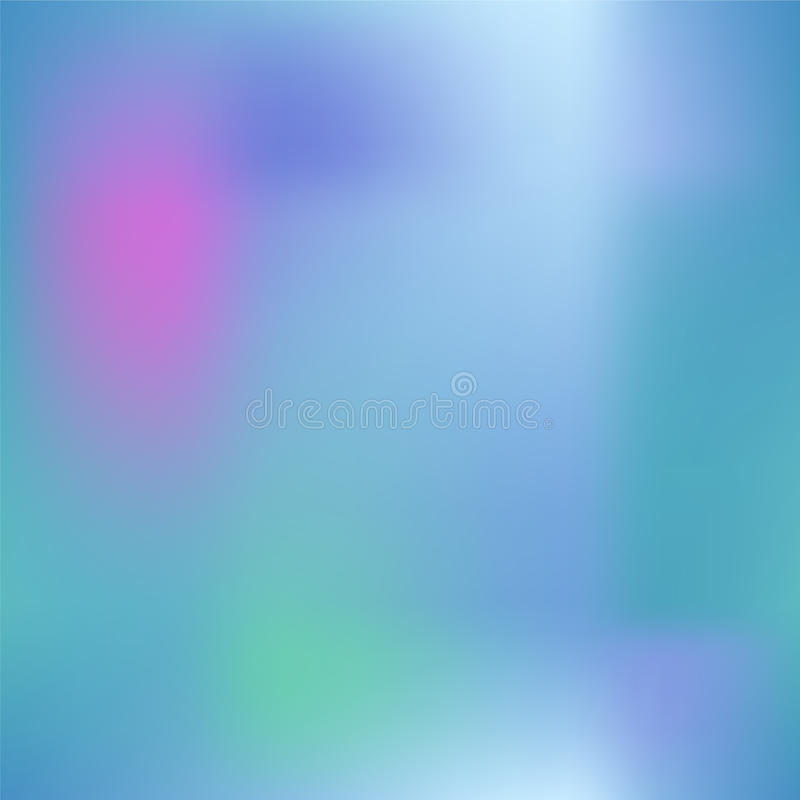 Colorful gradient mesh with dark pink, blue and green. Bright colored square background. royalty free illustration