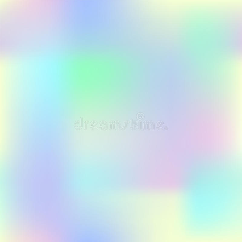 Colorful gradient mesh with yellow, pink, blue and green. Pale colored square background. stock illustration