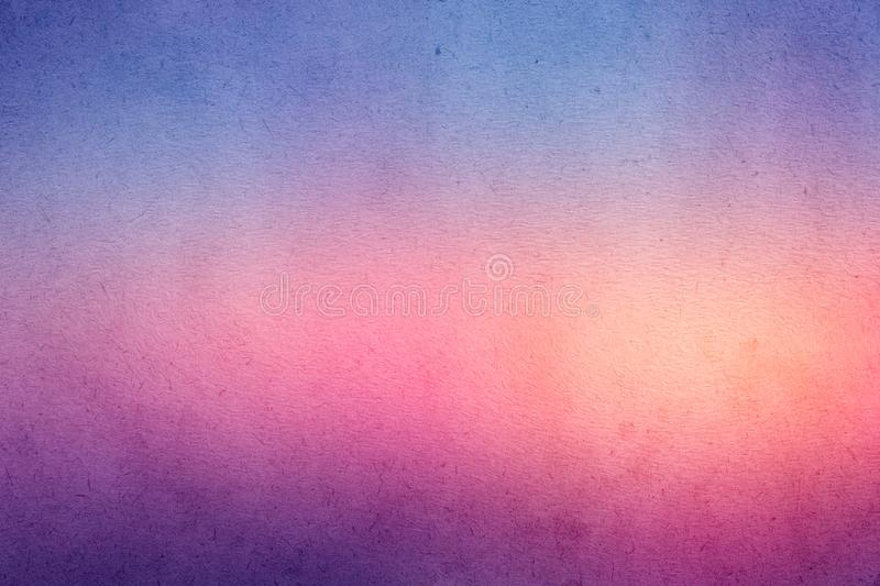 Colorful gradient watercolor paint on old paper with grain smudge dirty texture royalty free stock images