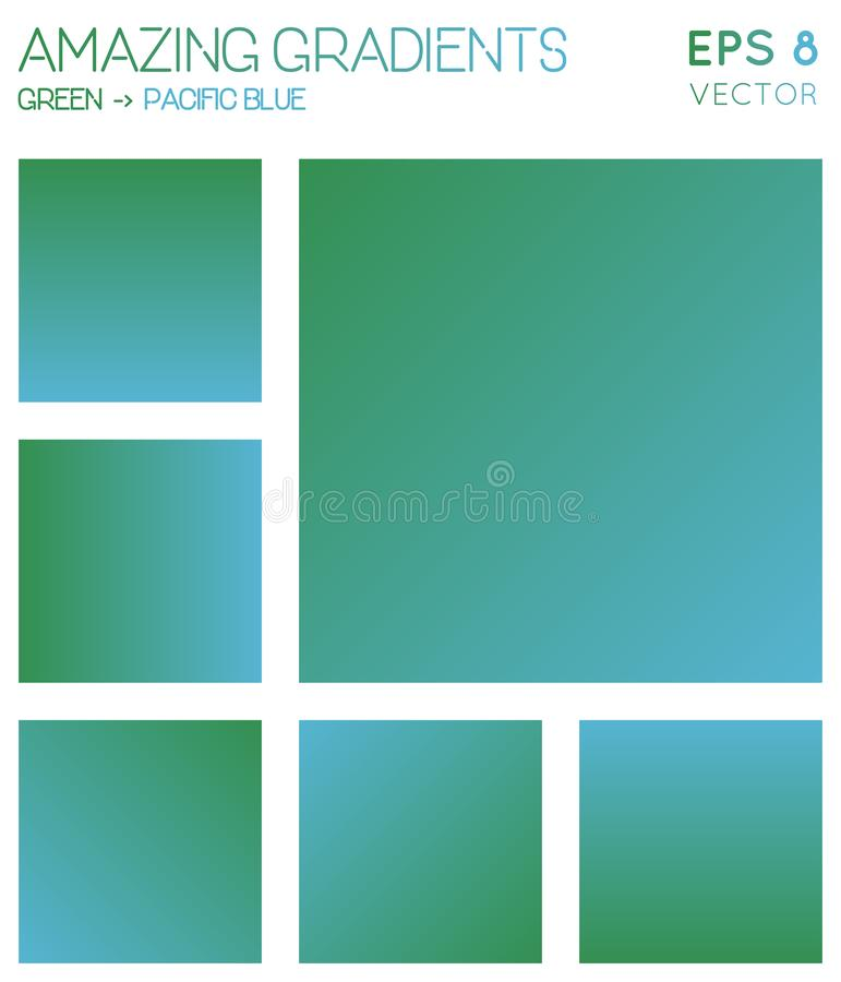 Colorful gradients in green, pacific blue color. Colorful gradients in green, pacific blue color tones. Actual gradient background, elegant vector illustration vector illustration