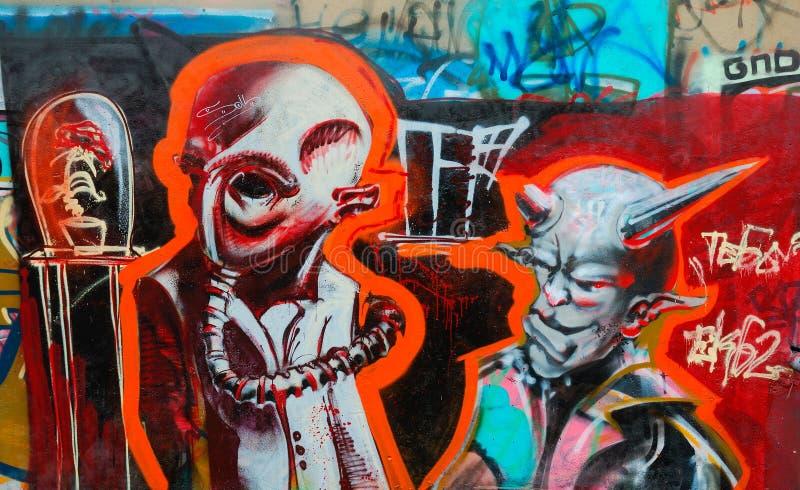 Colorful graffiti stock images
