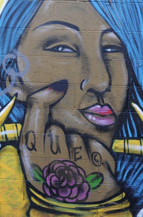 Graffiti Wall in Phoenix Arizona. Colorful Graffiti wall painted in Phoenix Arizona royalty free stock photography