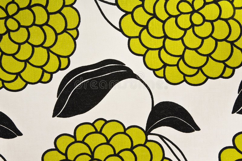 Colorful Grapes and Leaf Cotton Fabric royalty free stock image