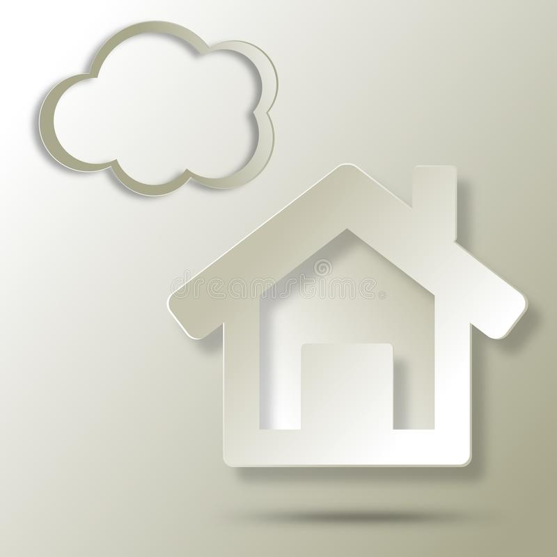Ecological House  Abstract Icon Stock Photography