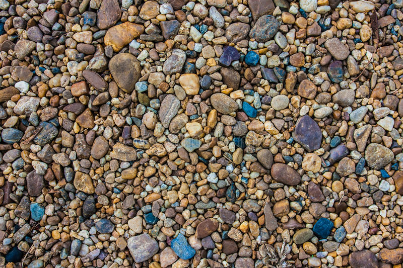 The colorful gravel royalty free stock photo
