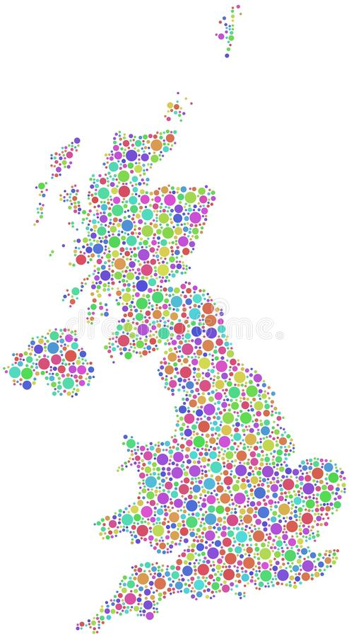 Colorful Great Britain map vector illustration