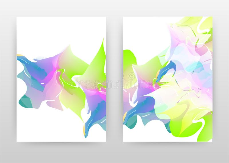 Colorful green blue concept abstract design of annual report, brochure, flyer, poster. Colorful concept on white background vector royalty free illustration