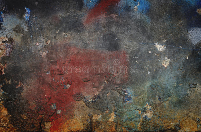 Grungy wall background. Colorful grunge walll background or texture stock images
