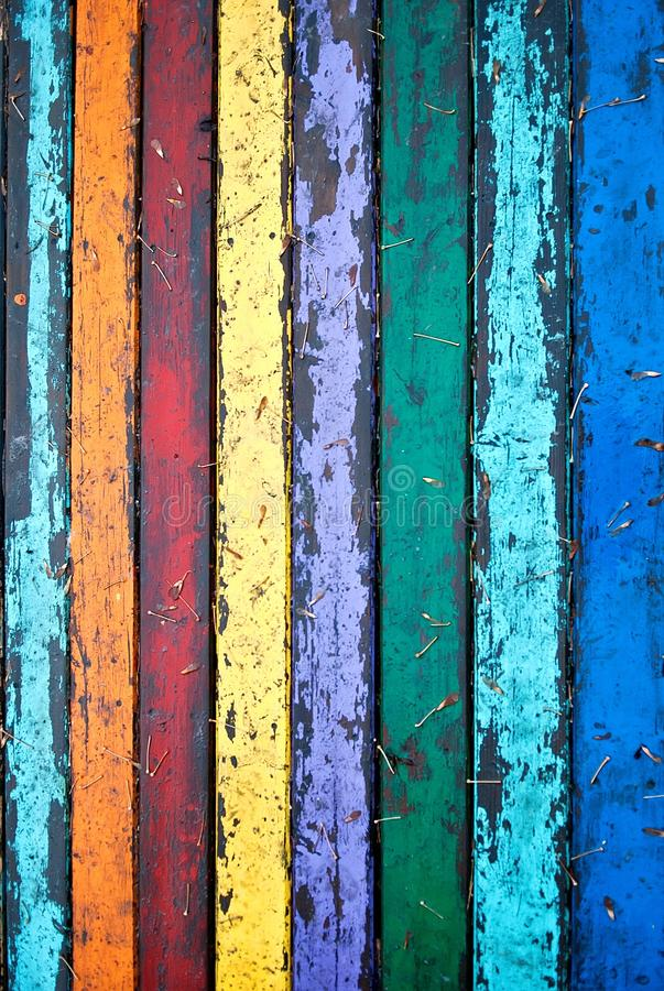 Colorful grungy wooden wall. Seamless background photo texture royalty free stock photos