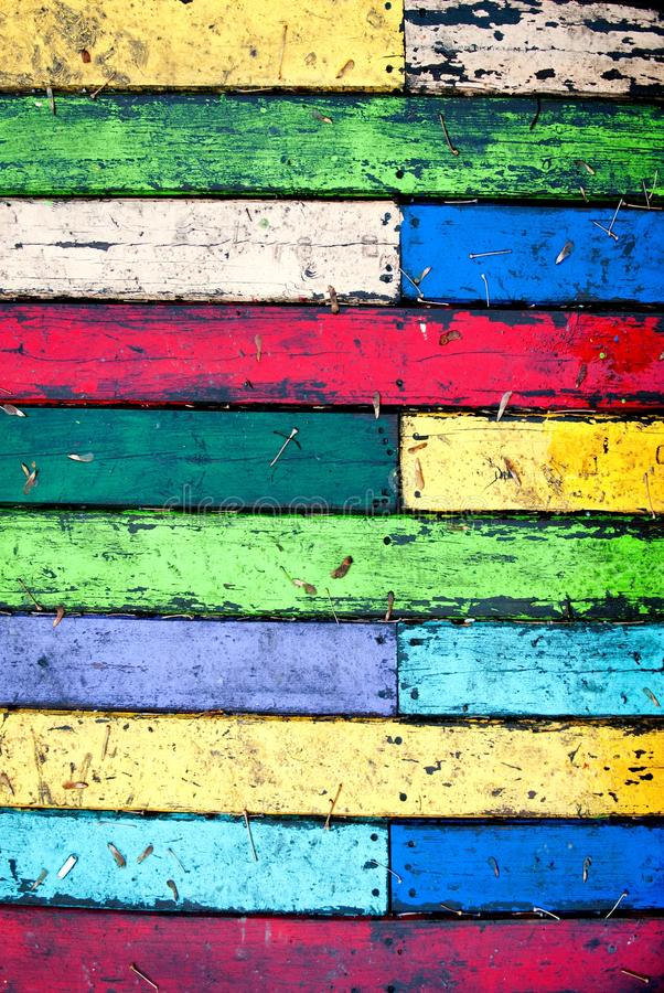 Colorful grungy wooden wall. Seamless background photo texture stock photography