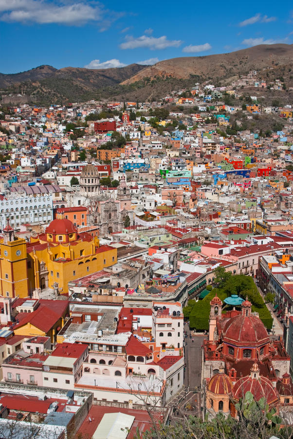 Download Colorful Guanajuato Town editorial stock image. Image of mexico - 25743679