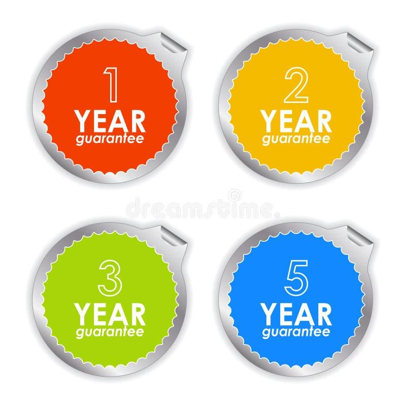Colorful guarantee labels