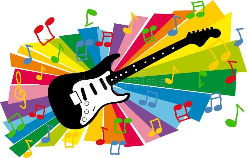 Colorful guitar illustration stock illustration