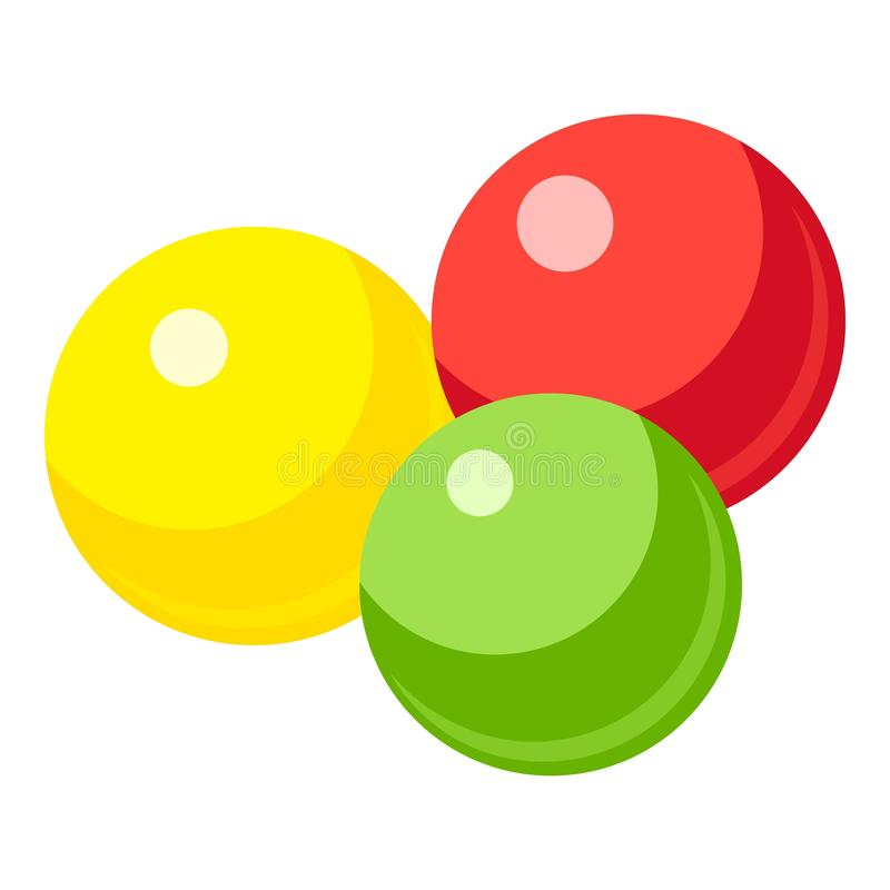 Colorful gumballs icon, cartoon style royalty free illustration