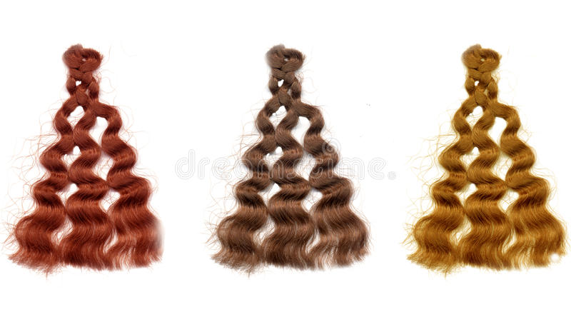 Colorful Hair Color Samples Stock Illustration Illustration Of
