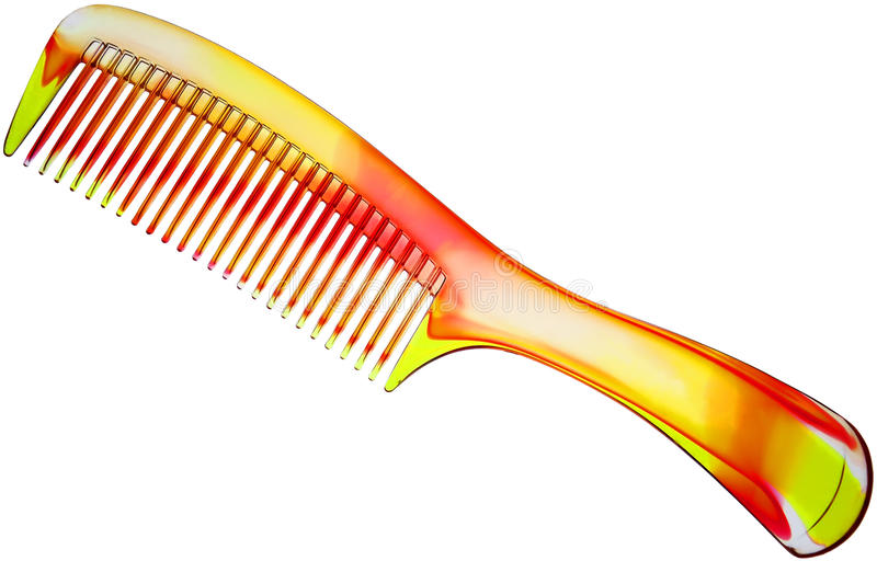 Colorful hairbrush stock photos