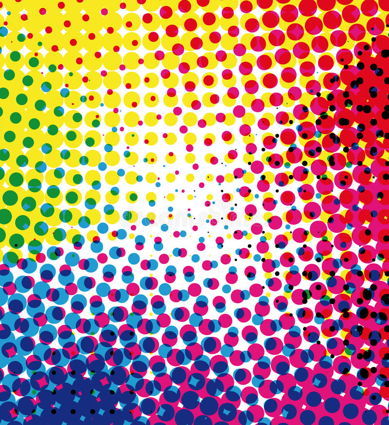 Free Colorful Halftone Background Royalty Free Stock Images - 10123429