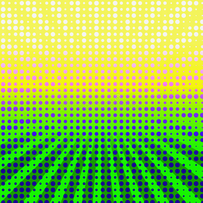 Colorful Halftone Burst