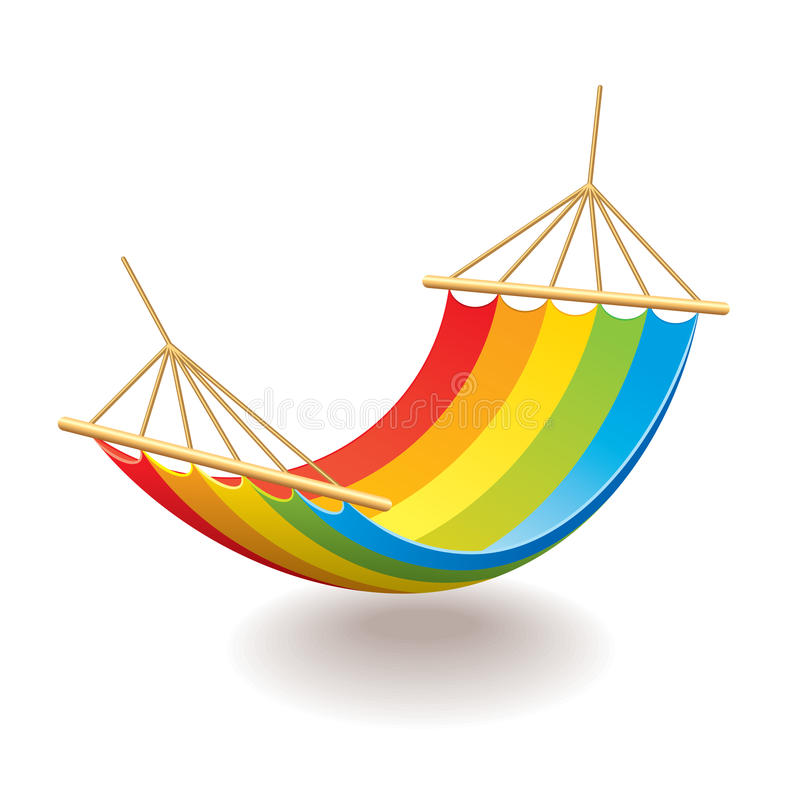 Free Colorful Hammock Isolated On White Vector Stock Image - 47955461