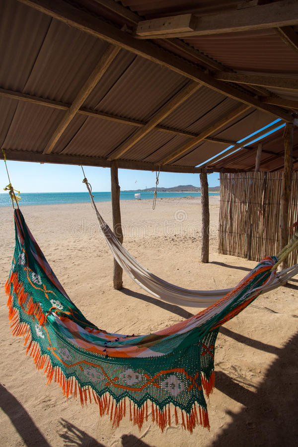 Free Colorful Hammocks On A Beautiful Deserted Bach Royalty Free Stock Photo - 40099755