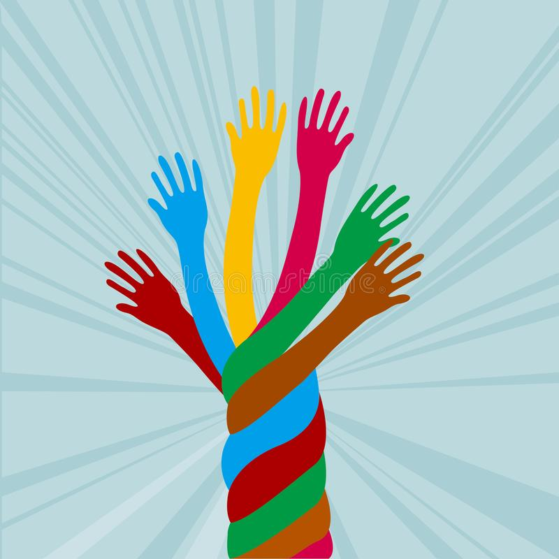 Colorful hand design. royalty free illustration