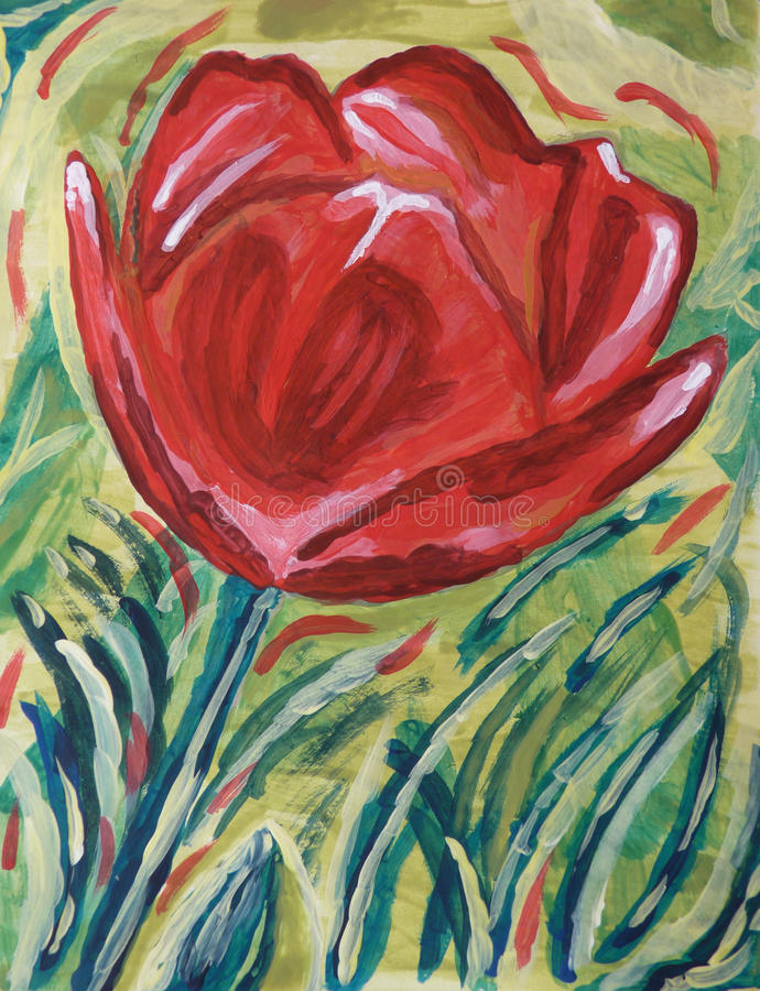 Download Hand painted Rose stock illustration. Illustration of handmade - 30279209