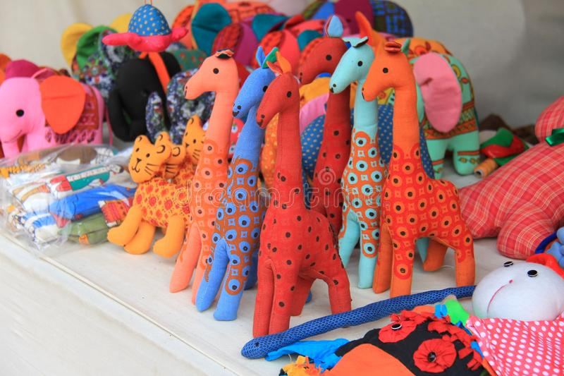 Colorful Hand Made Toys Made Up Of Cloths Royalty Free Stock Images