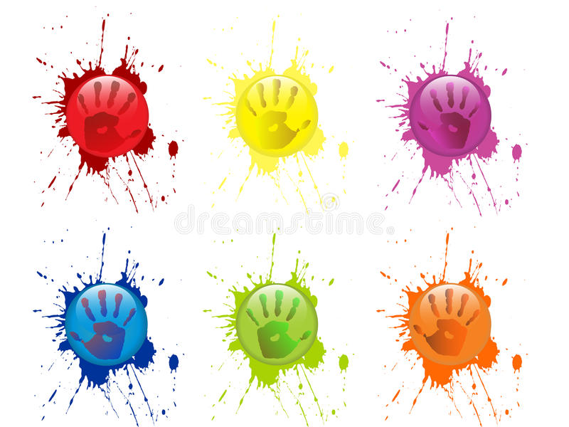 Download Colorful hand prints stock illustration. Image of cheer - 28660250