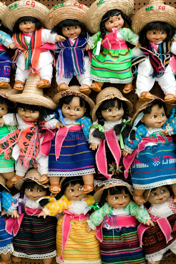 Free Colorful Handmade Dolls Stock Photography - 876182