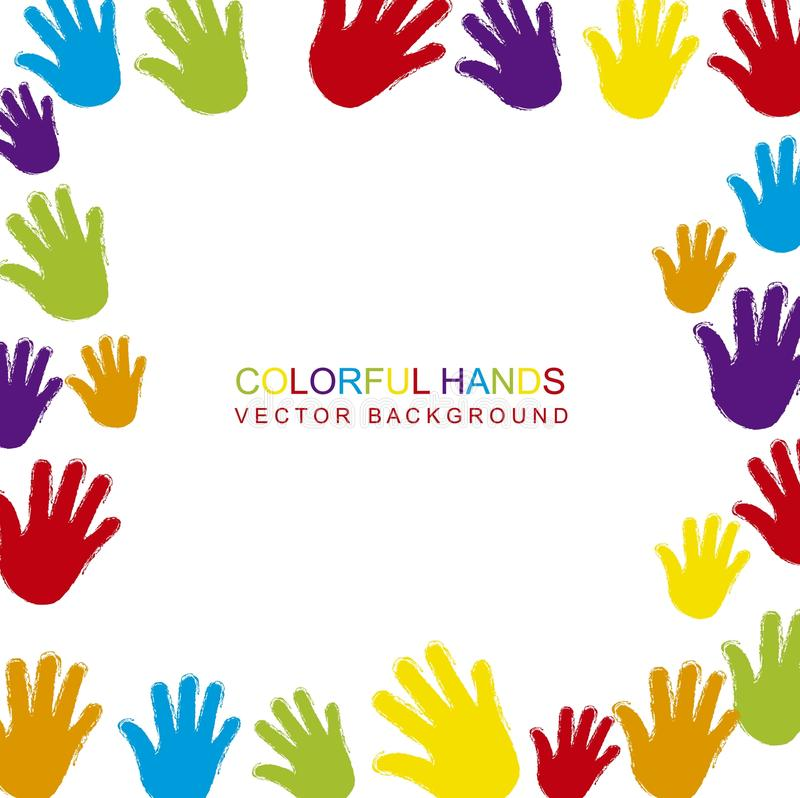 Download Colorful hands stock vector. Image of finger, cooperation - 26626968