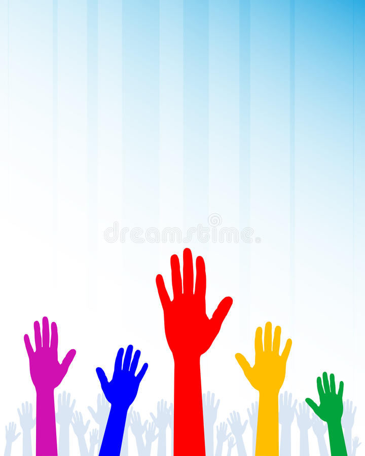 Colorful hands royalty free illustration
