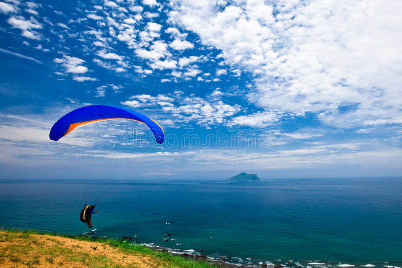 Download Colorful Hang Glider In Sky Stock Image - Image: 12664025