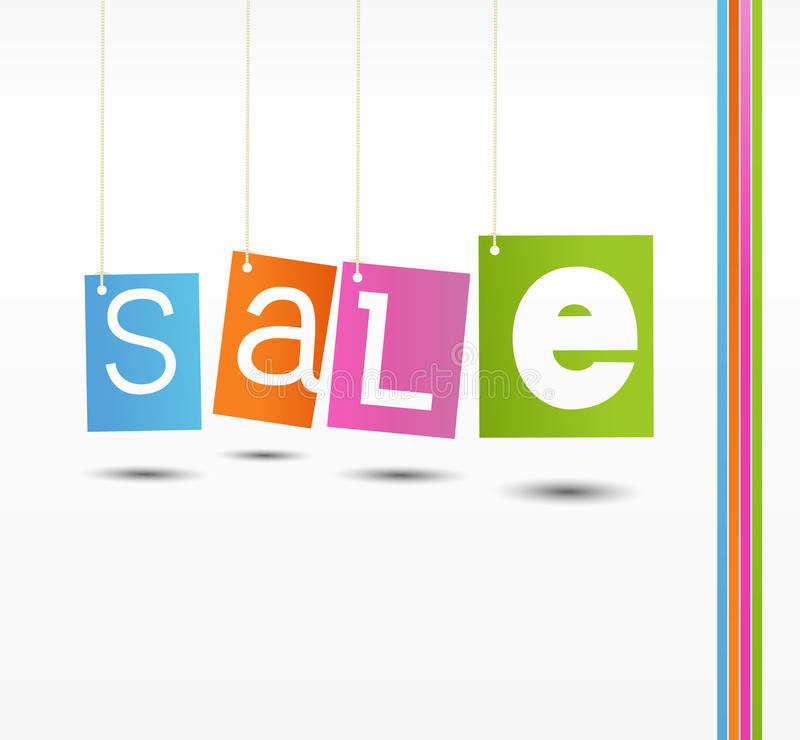 Download Colorful Hanging Sale Labels Stock Vector - Image: 25952024
