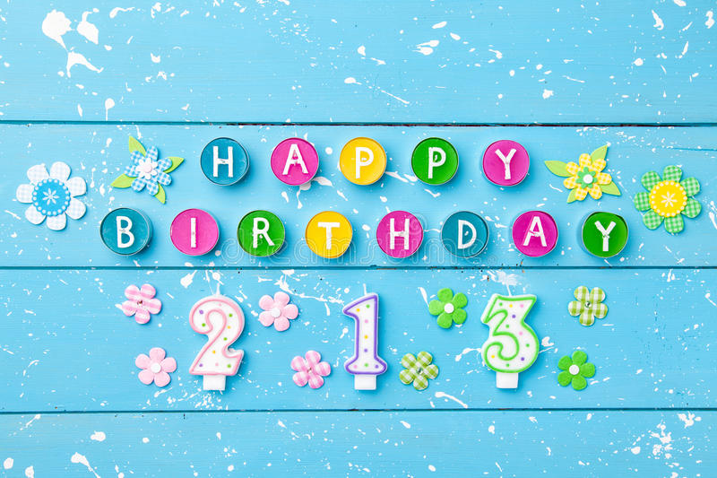 Colorful Happy Birthday background. With copyspace stock photography