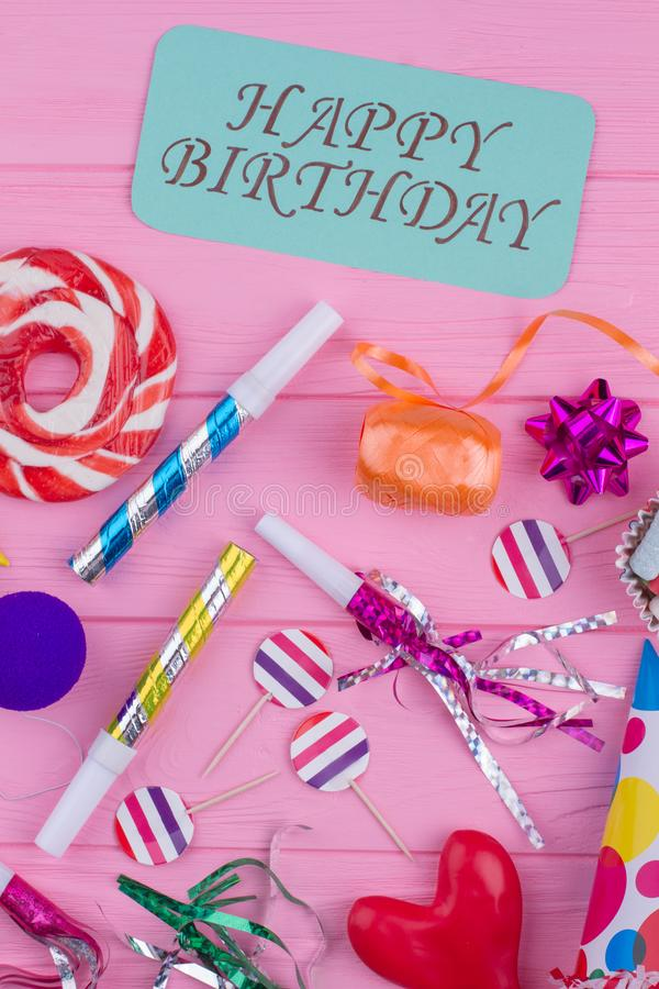 Colorful happy Birthday background. stock photography