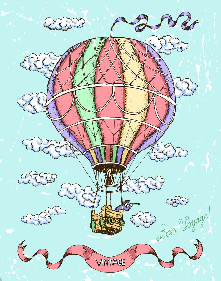 Colorful happy birthday card with hot air balloon stock vector download colorful happy birthday card with hot air balloon stock vector illustration of clouds bookmarktalkfo Image collections