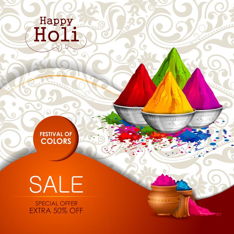 Colorful Happy Hoil Party Background For Festival Of