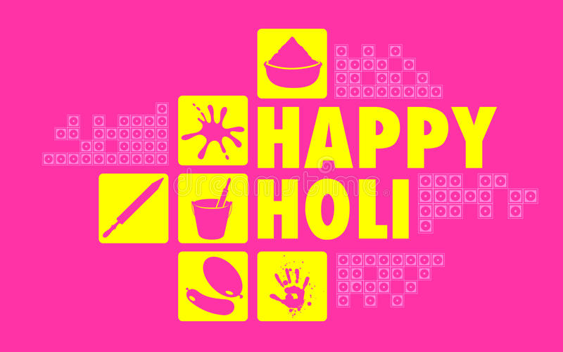 Colorful Happy Holi. Illustration of colorful Happy Holi flat design background vector illustration