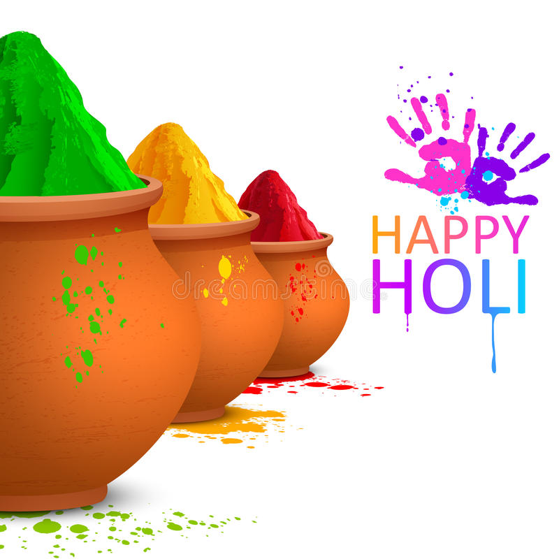 Colorful Happy Holi. Illustration of colorful gulal ( colors powder ) for Happy Holi vector illustration